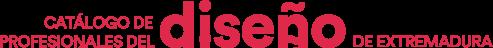 Catálogo de profesionales del diseño de Extremadura Logo