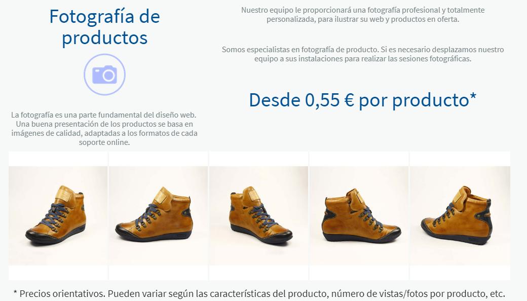 Fotografía de producto para un completo diseño adaptado comercialmente.