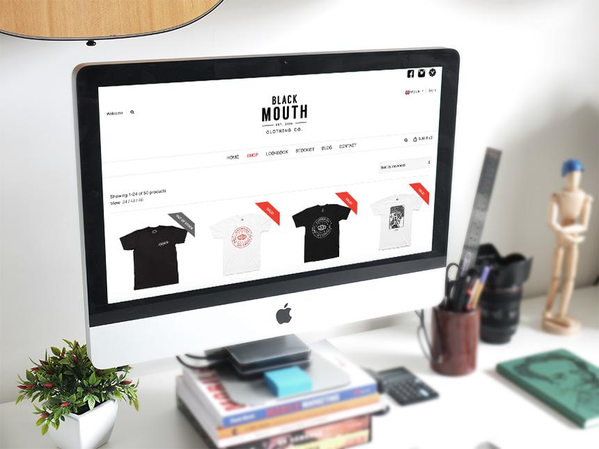 Blackmouthco. E-commerce.