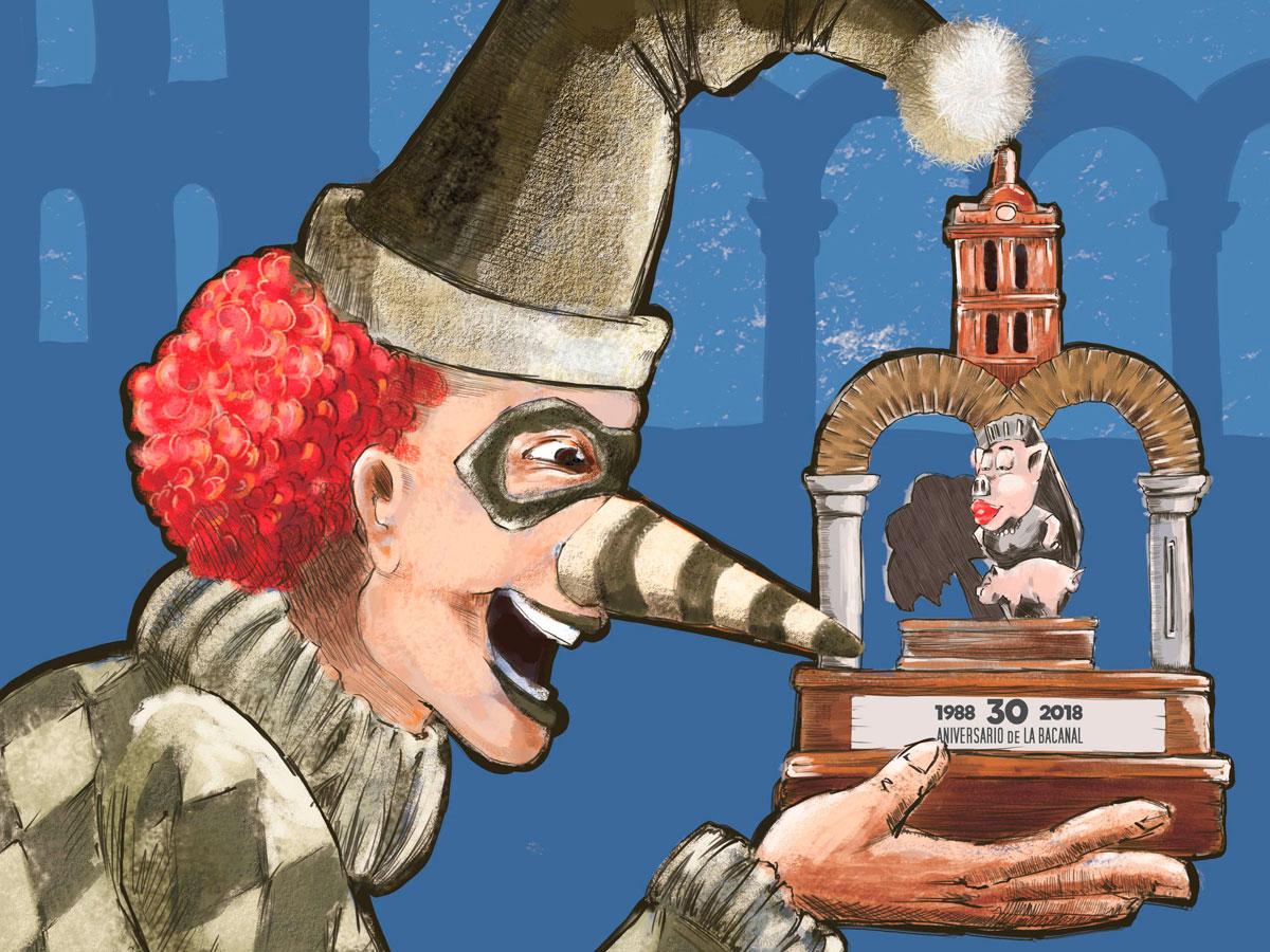 Ilustración para Cartel Carnavales. Zafra