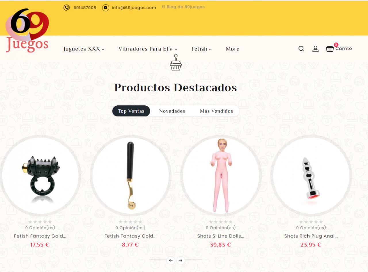 Diseño Tienda Online 69juegos.com