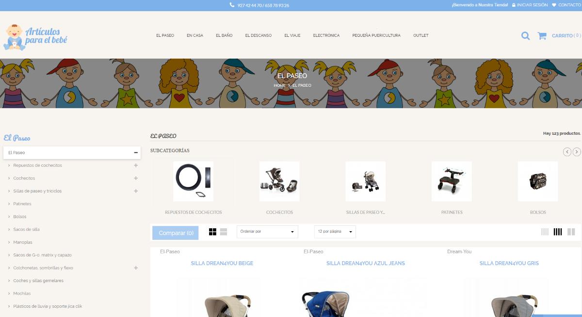 Diseño Tienda Online Articulosparaelbebe