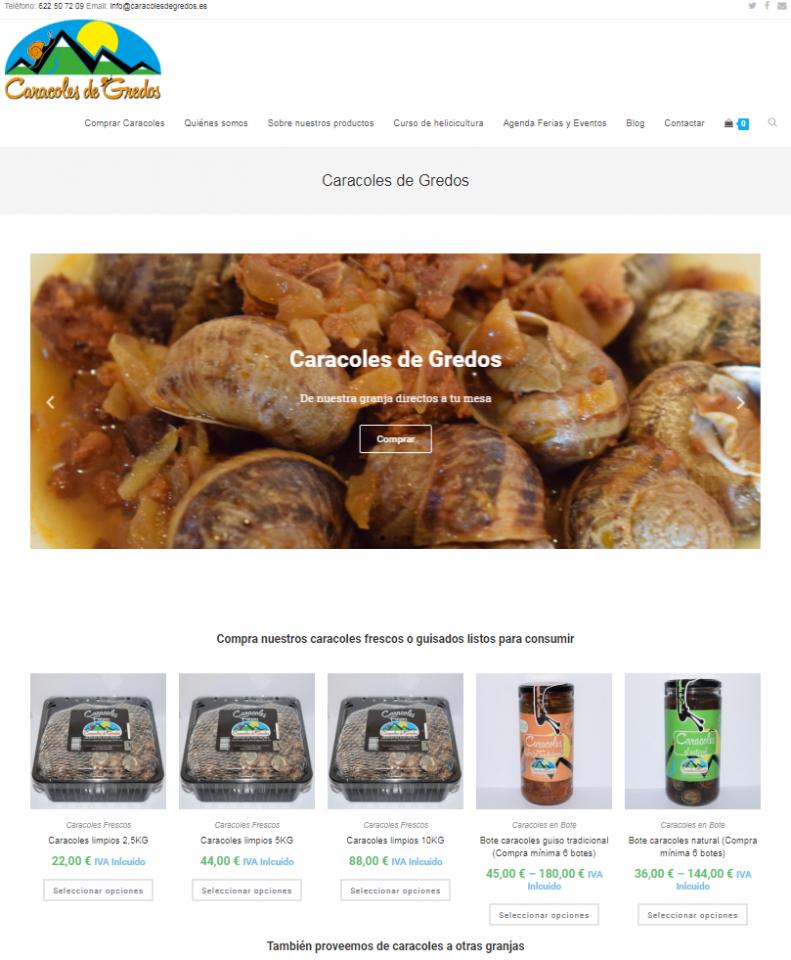 Diseño Tienda Online CaracolesdeGredos