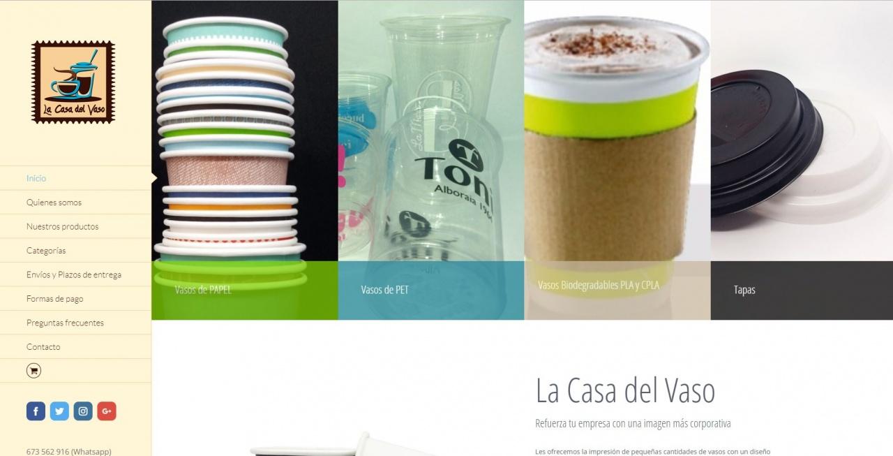 Diseño Tienda Online Lacasadelvaso