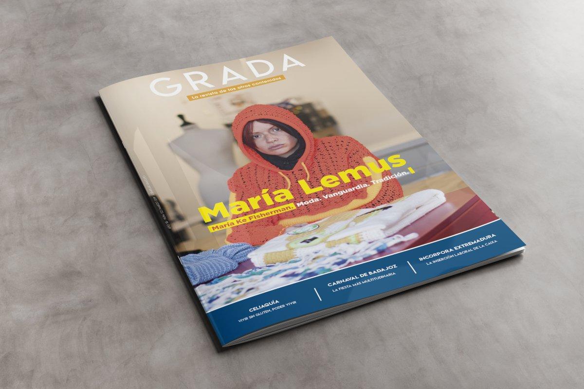 Diseño y maquetación de la revista mensual Grada