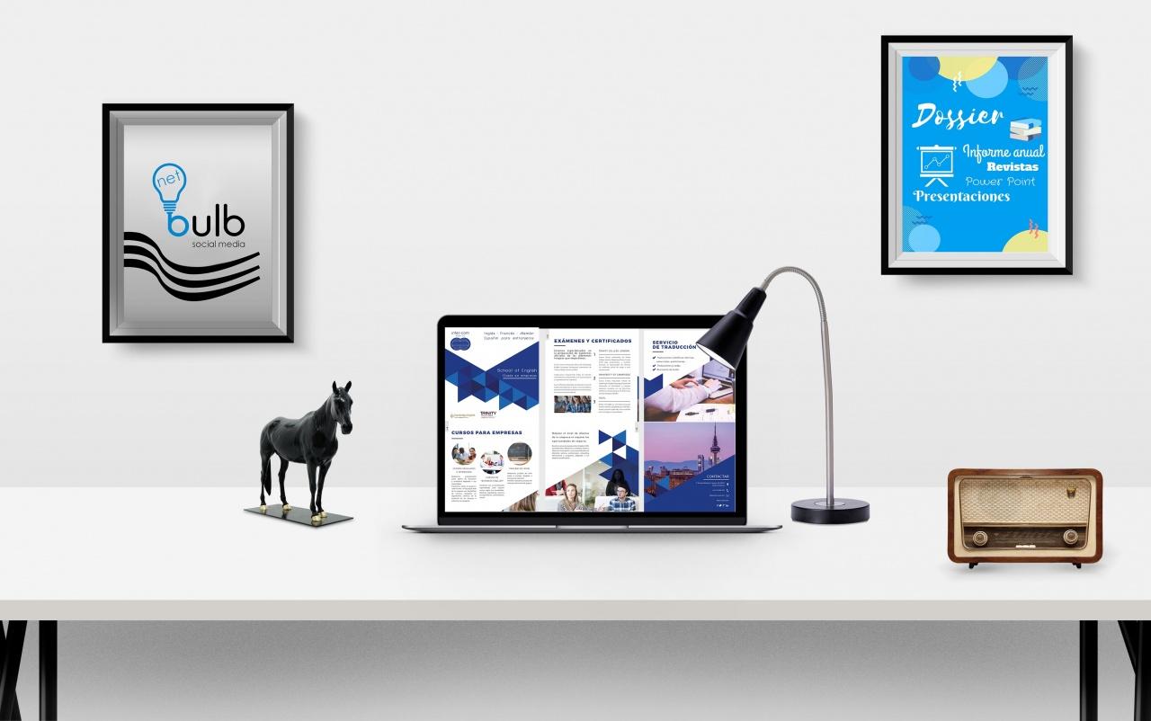 Diseño para empresas (Dossier, Revistas, anuario, informes, cursos, presentaciones, etc.)