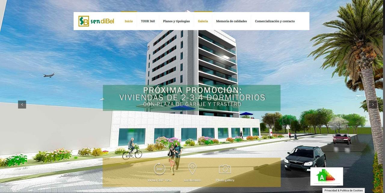 Web para promoción de viviendas