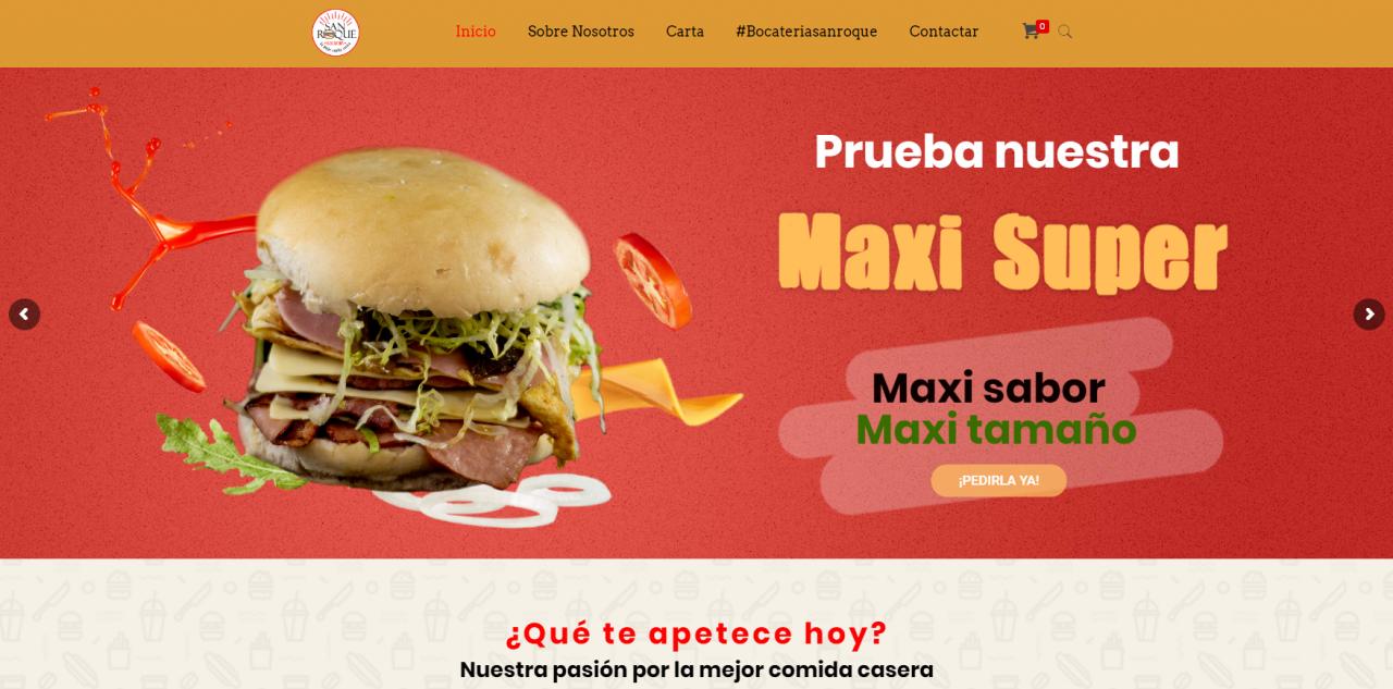 E-Commerce de Bocatería San Roque