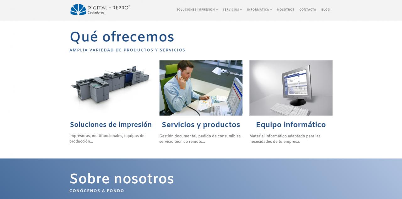 Página Web de Digital Repro