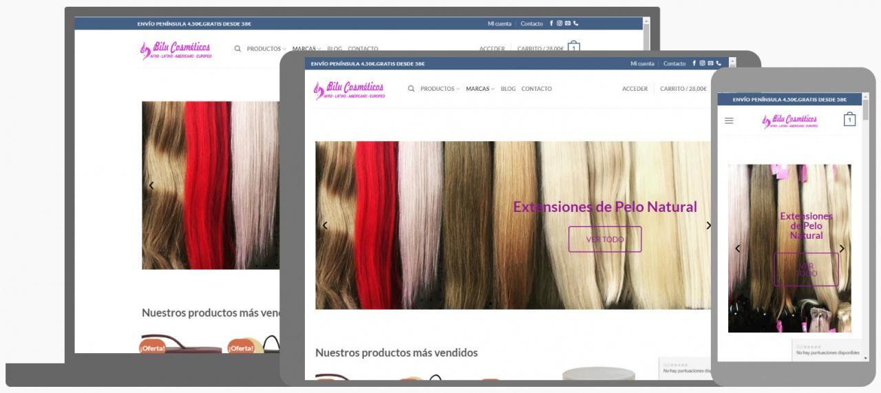 Diseño Tienda Online bilucosmeticos