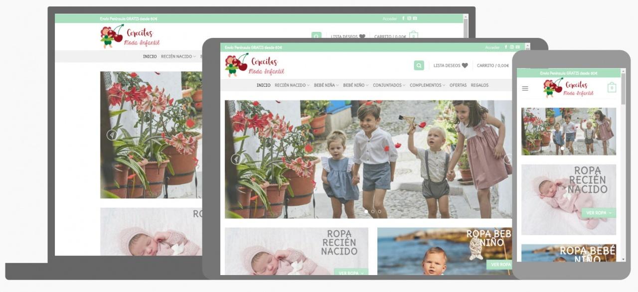 Diseño Tienda Online Cerecitas Moda Infantil