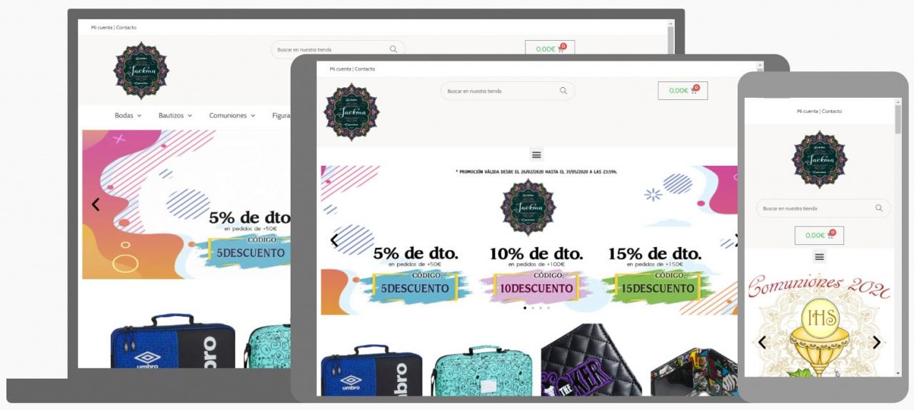 Diseño Tienda Online Detalles y Caprichos Jackma