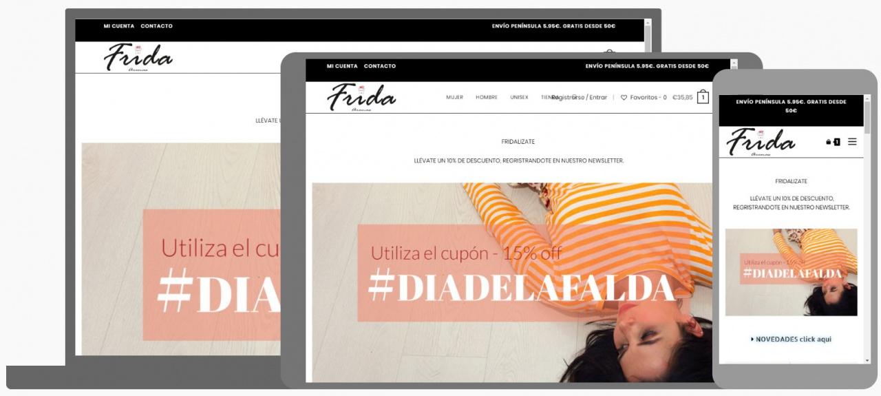 Diseño Tienda Online Frida Arenas