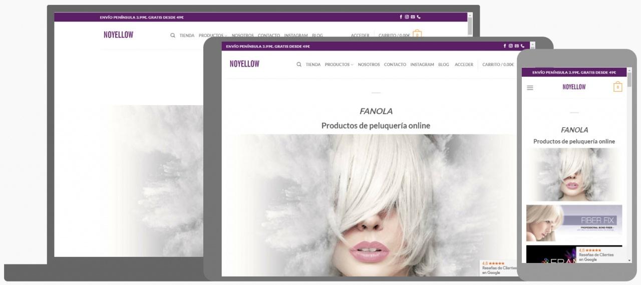 Diseño Tienda Online Noyellow