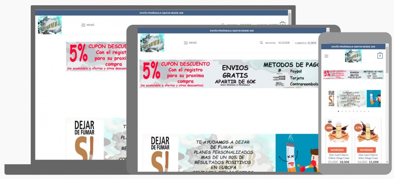 Diseño Tienda Online Vapernub