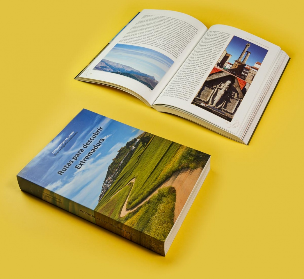 Impresión de libro de rutas de Extremadura