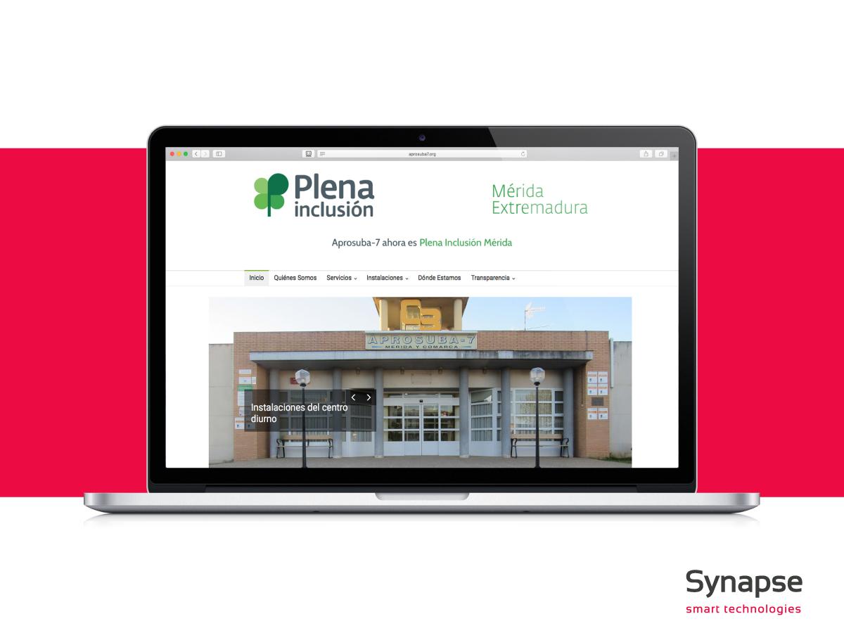 Web informativa de servicios: Aprosuba Merida