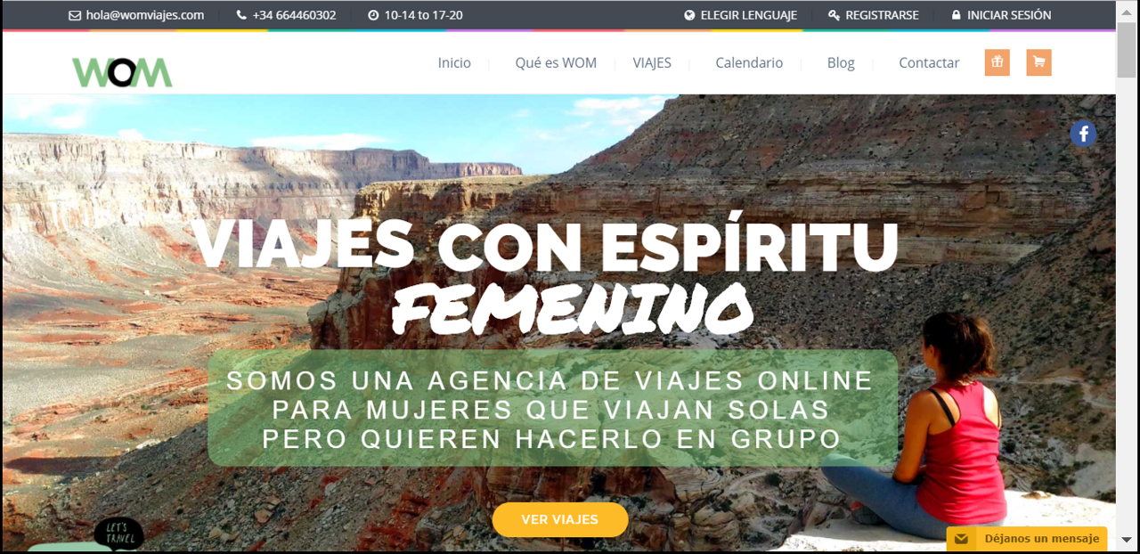 Web para agencia de viajes