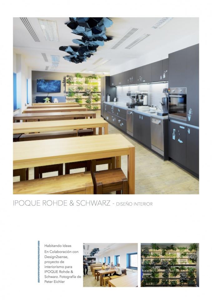 IPOQUE Rohde & Schwarz - Interiorismo de Oficinas. Colaboración con Design2sense . Fotografía de Peter Eichler.