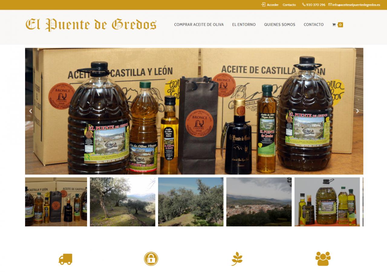 Diseño Tienda Online Aceites el Puente de Gredos
