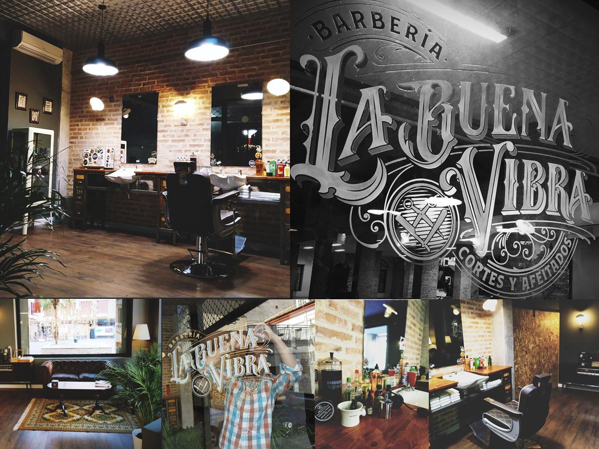 Identidad y diseño de interiores Barbería La Buena Vibra