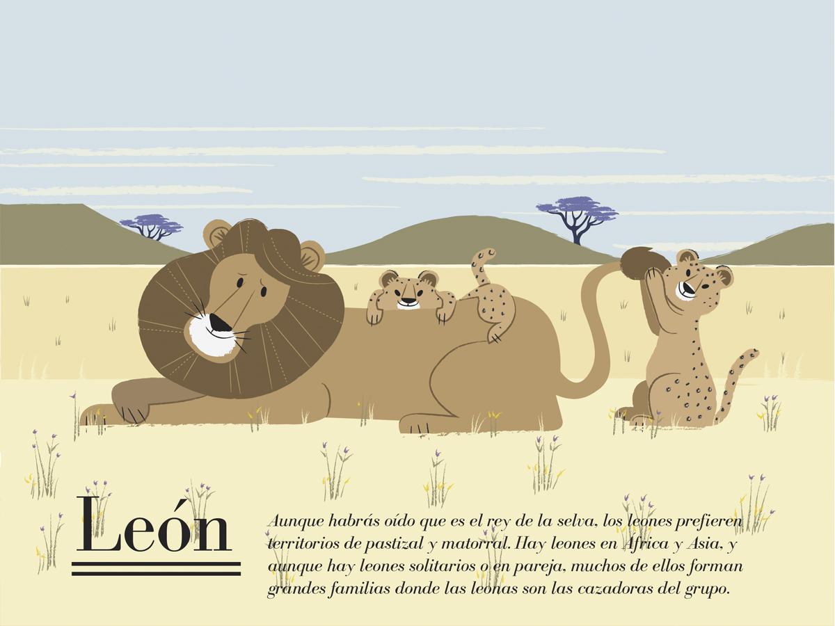 ilustración para calendario felino