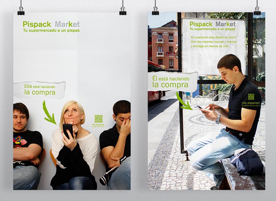 Cartelería de Pispack Market