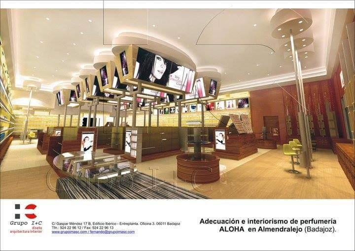Proyecto de diseño y adecuación de espacio comercial para perfumeria