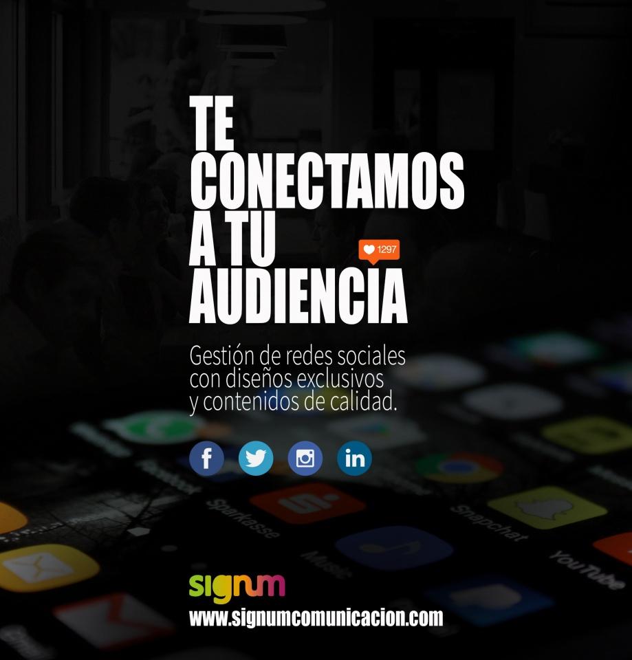 Te conectamos a tu audiencia.