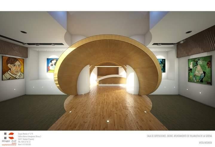 Proyecto diseño y adecuación de espacio para sala de exposiciones.