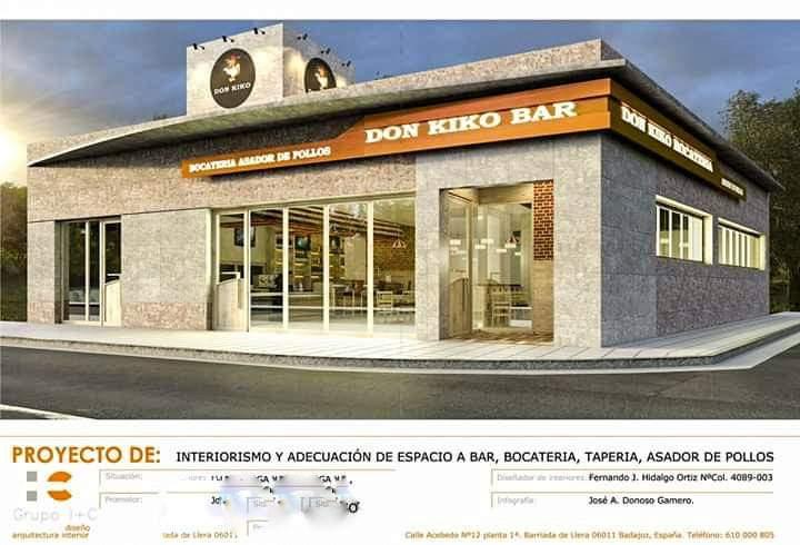 Proyecto y Diseño de espacio para bar asador bocateria
