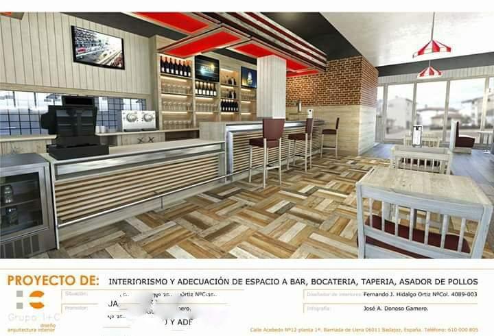 Proyecto y Diseño de bar, asador, bocateria