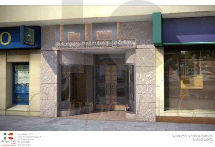 Proyecto y Diseño de arquitectura interior de espacio comercial a joyería , dirección y gestión de obra proyecto registrado y visado en el coddiex.