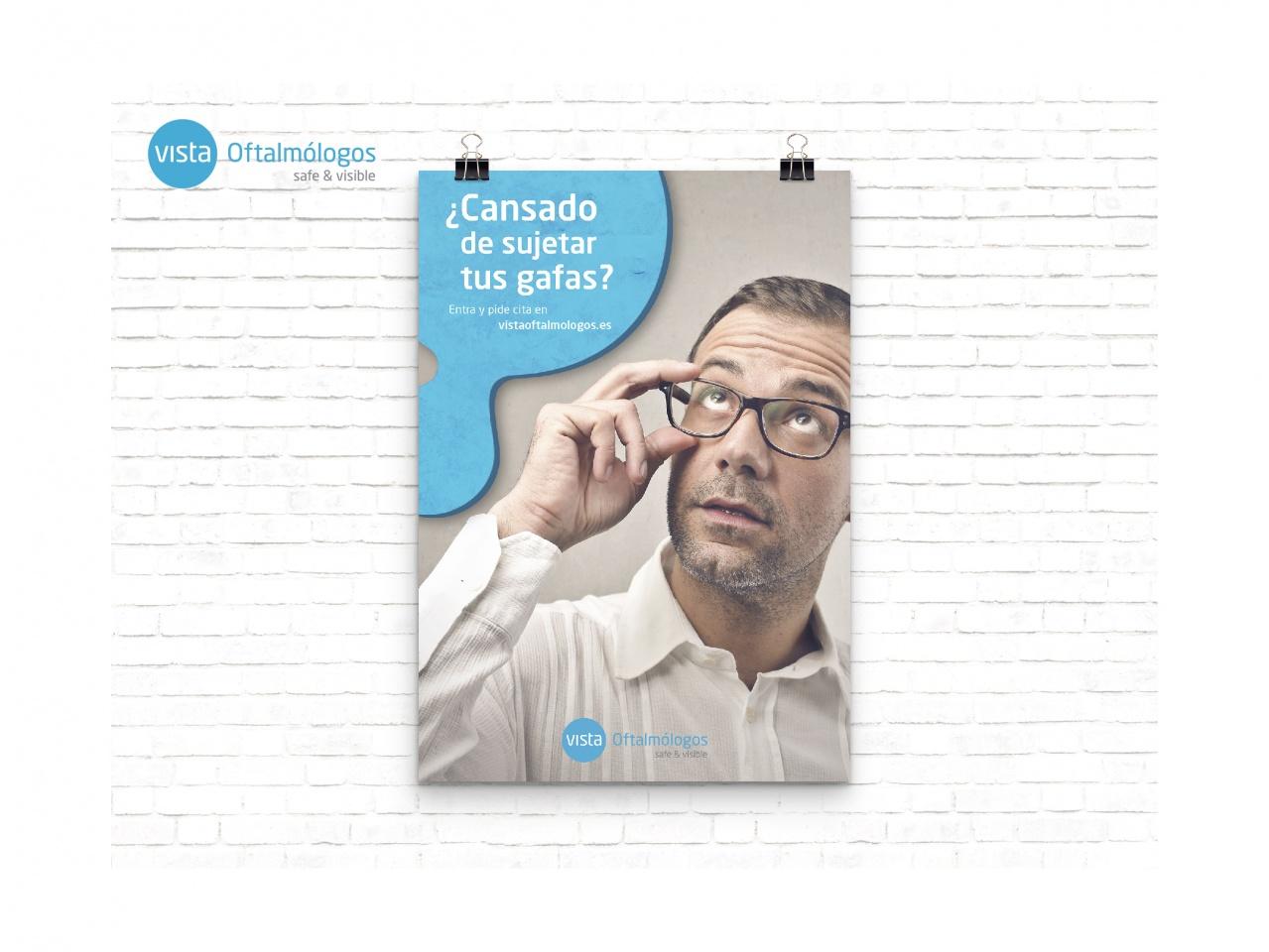 Creación y diseño de campañas para Grupo Vista Oftalmólogos.