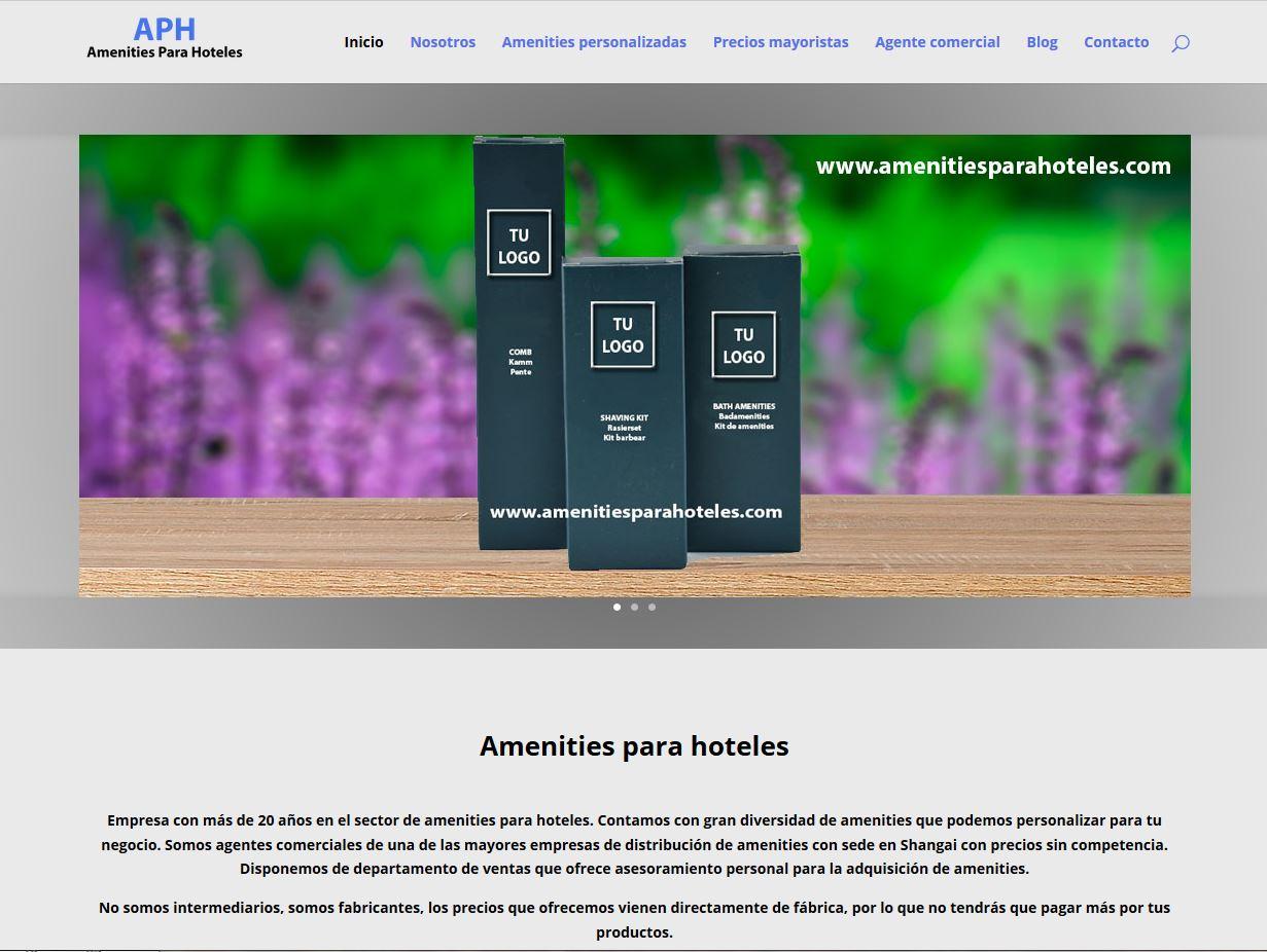 Empresa de amenities para hoteles. HTML5, CSS y PHP