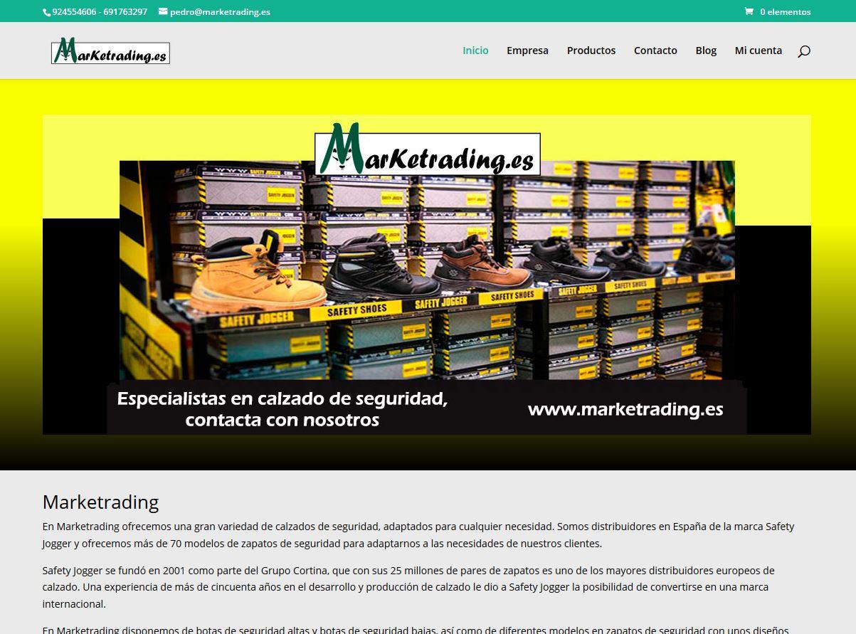 E-commerce de calzado de seguridad. HTML5, CSS y PHP