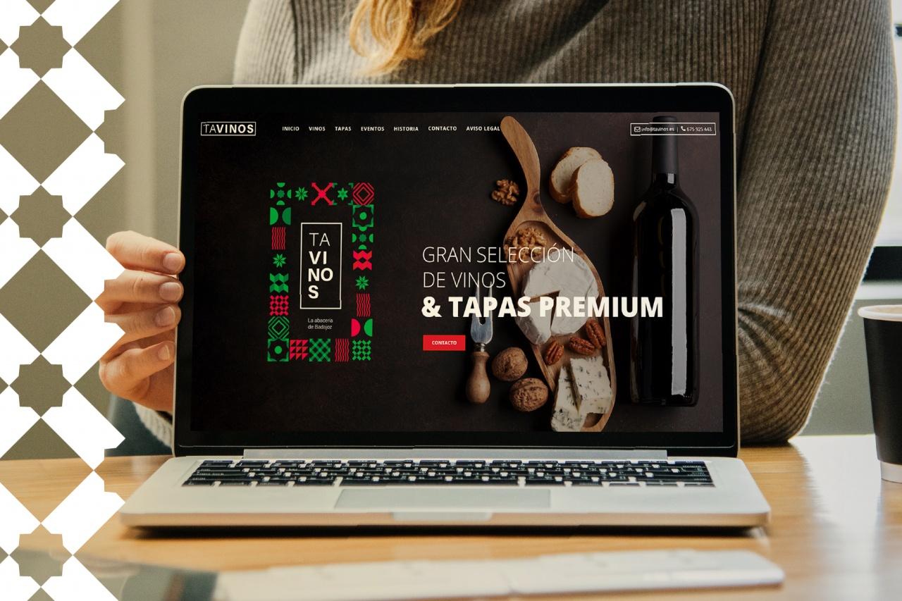 Diseño de marca y web para Tavinos