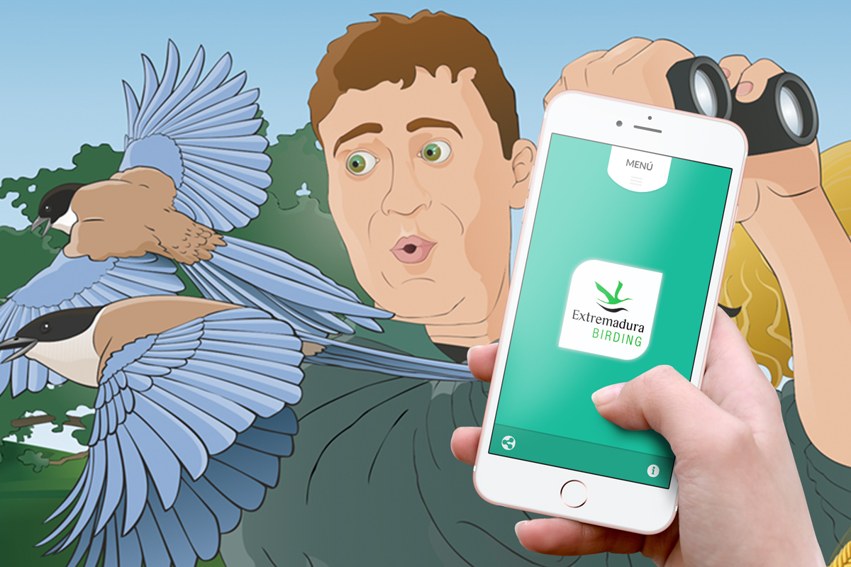 App Birding in Extremadura