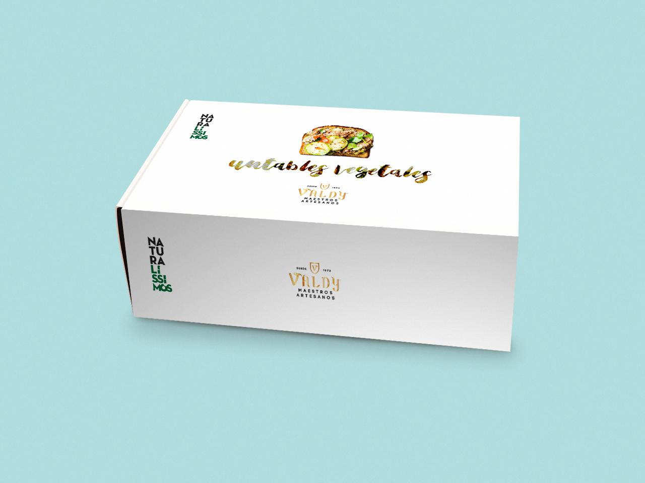 Diseño de caja expositora de Patés para Valdy Nou