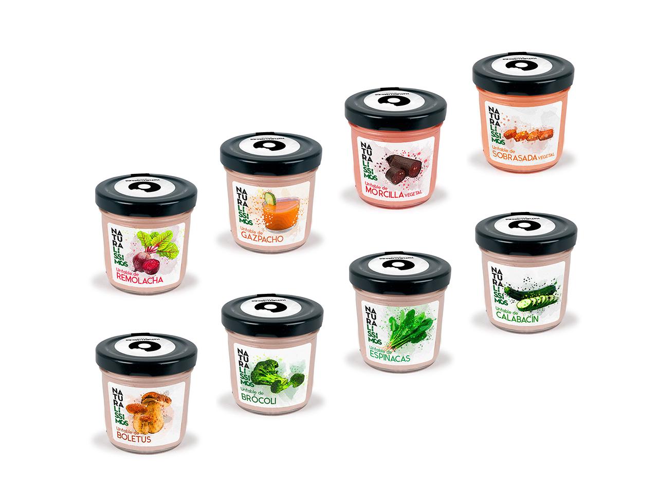 Diseño de etiquetado para tarros de paté Naturalísimos de Valdy