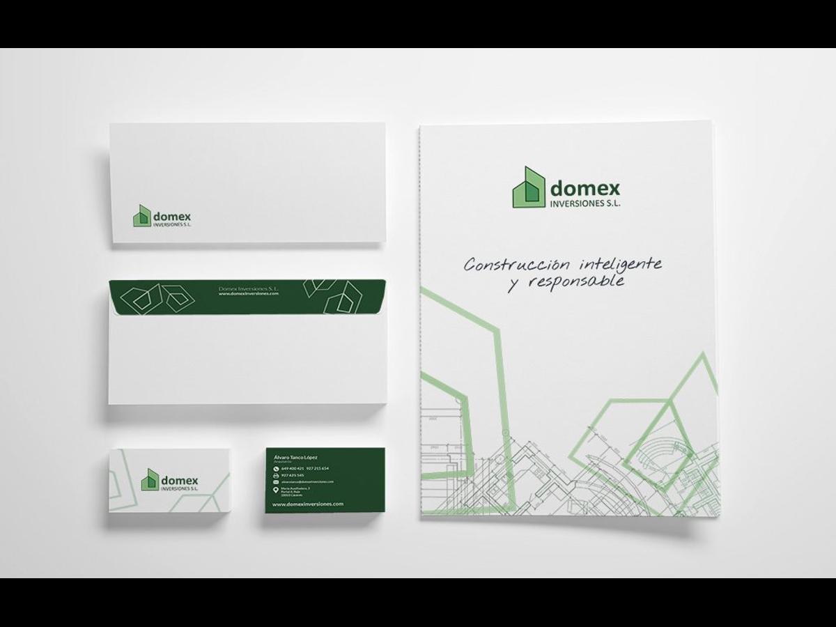 Diseño e impresión de papelería corporativa para Domex