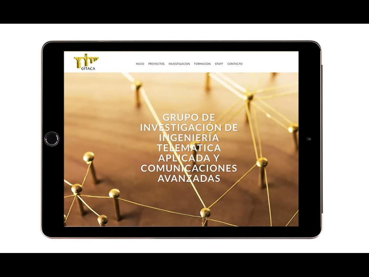 Diseño web para el Grupo de Investigación de Ingeniería Telemática Aplicada y Comunicaciones Avanzadas (Gítaca) de la Universidad de Extremadura