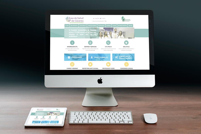 Página web Área de Salud de Cáceres