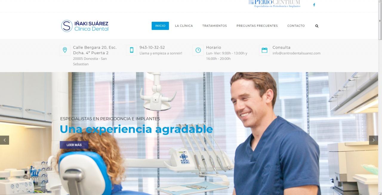 Web corporativa. Sector Médico