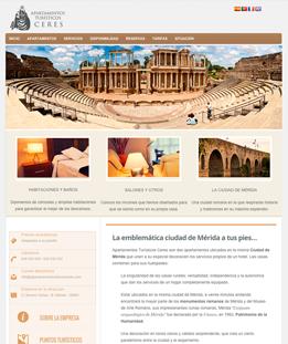 Diseño web para Apartamentos Ceres