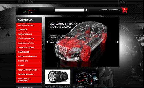 Comercio electrónico de venta de piezas de automóviles