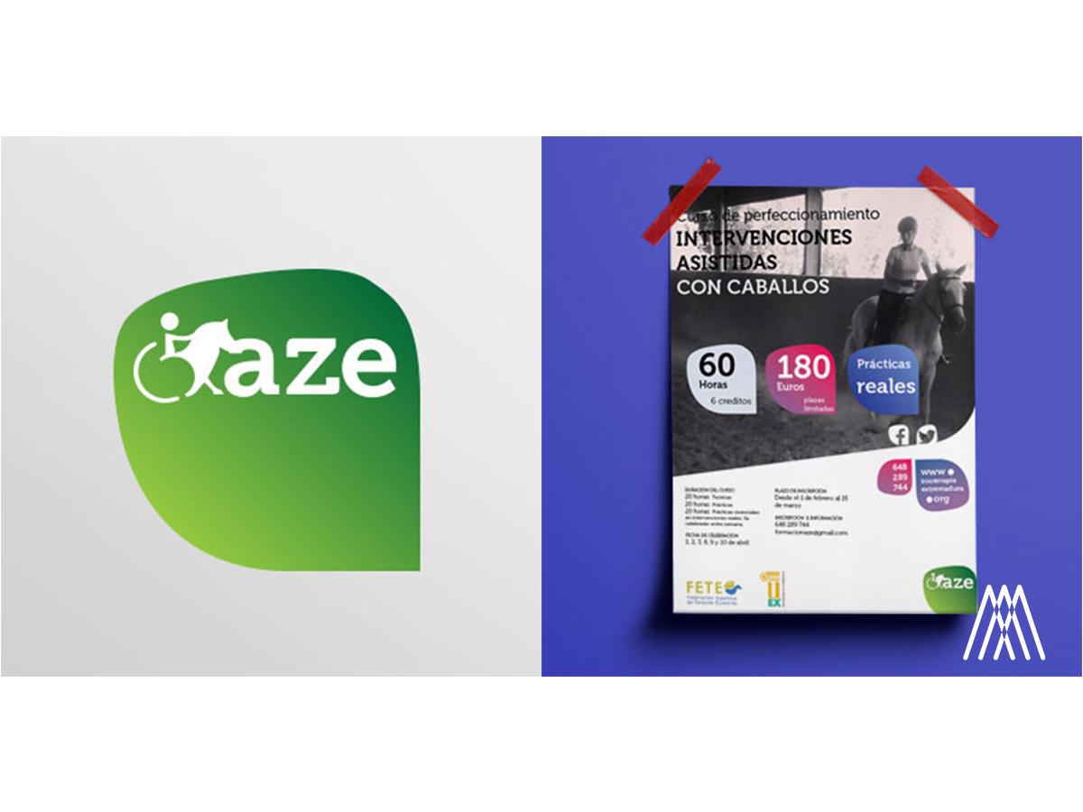 Branding & Publicidad para la Asociación de Zooterapia de Extremadura.