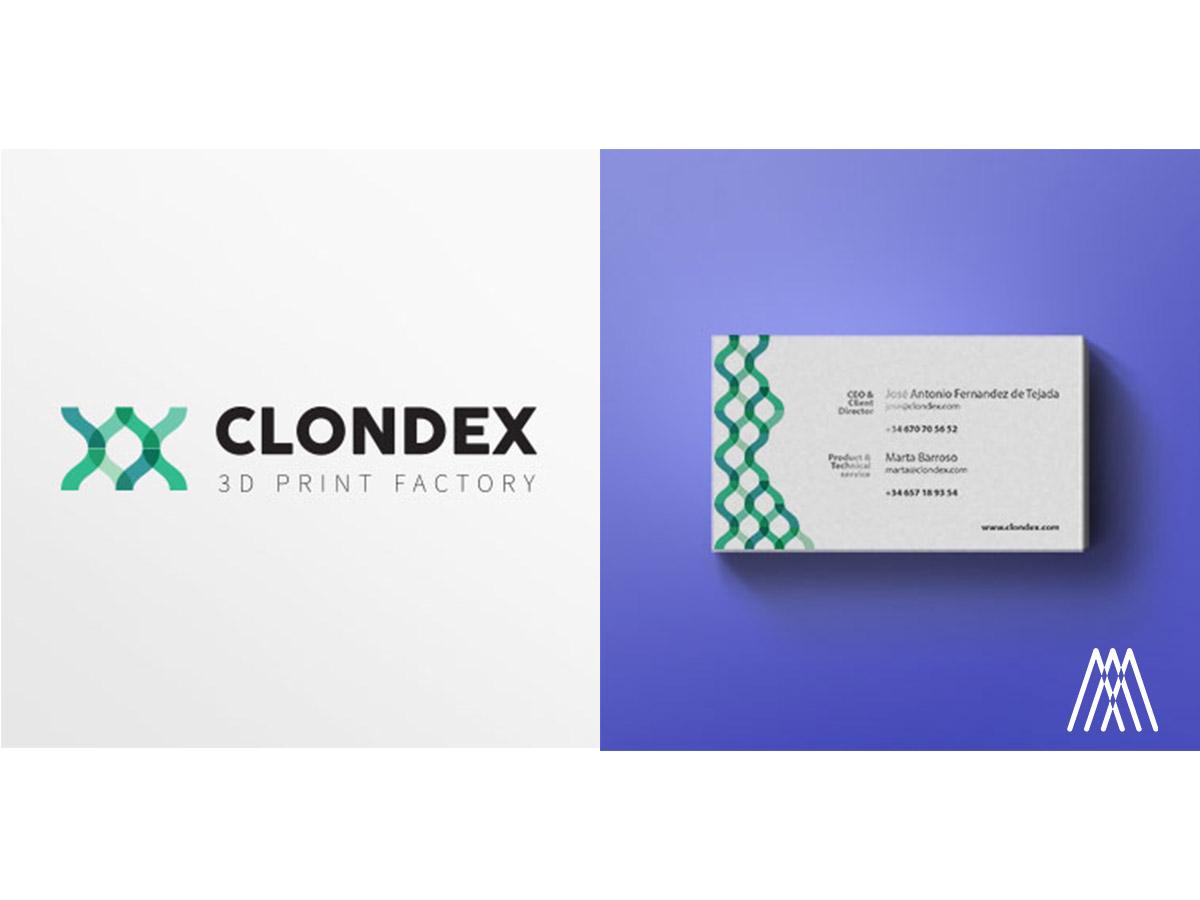 Branding para la marca de impresoras 3D Clondex