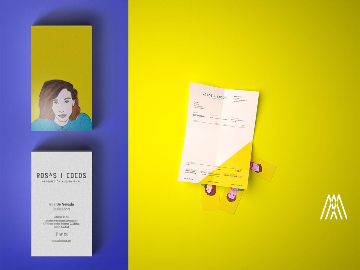 Branding para la marca madrileña audiovisual ROSA i COCOS