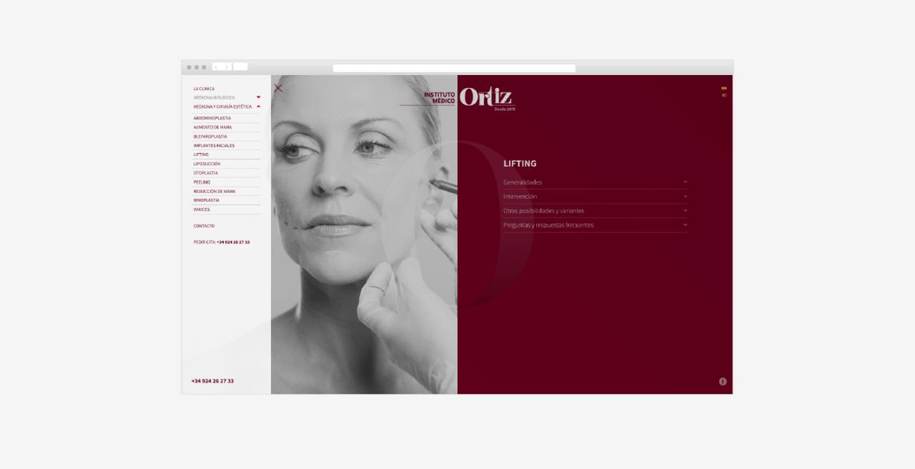 Diseño web Clínica estética